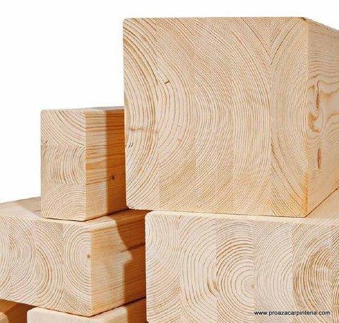Carpinter a proaza noticias madera maciza o laminada for Tejado madera maciza
